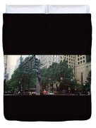 Buildings In A City, Trade And Tryon Duvet Cover