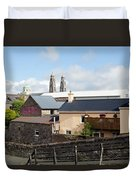Buildings In A Town, Mullingar, County Duvet Cover