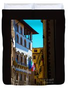 Buildings In Florence Italy Duvet Cover