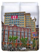 Buildings Near War Memoriall In Ottawa-on Duvet Cover