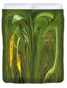 Bulbinella Latifolia Abstract Duvet Cover