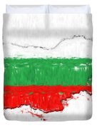 Bulgaria Painted Flag Map Duvet Cover
