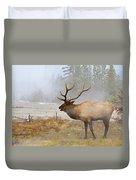 Bull Elk Bugles Loves In The Air Duvet Cover