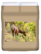 Bull Elk Profile Duvet Cover