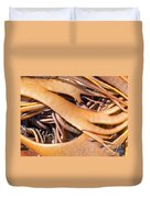 Bull Kelp Blades On Surface Background Texture Duvet Cover