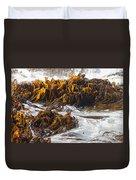 Bull Kelp Durvillaea Antarctica Blades In Surf Duvet Cover