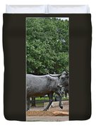 Bull Market Quadriptych 2 Of 4 Duvet Cover by Christine Till