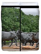 Bull Market Quadriptych Duvet Cover
