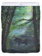 Bull Moose Pond Duvet Cover