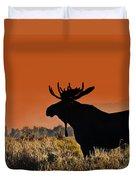 Bull Moose Sunset Duvet Cover