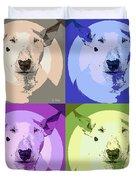 Bull Terrier Pop Art Duvet Cover
