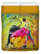 Bullfighting In Neon Light 01 Duvet Cover