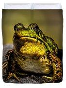 Bullfrog Watching Duvet Cover