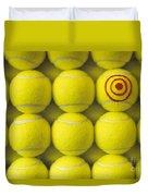 Bullseye Tennis Balls Duvet Cover