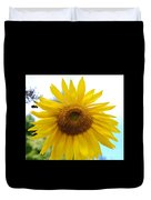 Bumble Bee And Sunflower Duvet Cover