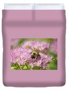 Bumble Bee On A Century Plant Duvet Cover