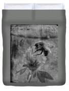 Bumble Bee Post Card 2 Bw Duvet Cover