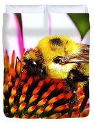 Bumblebee On Echinacea  Duvet Cover