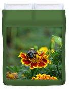 Bumblebee On Marigold Duvet Cover