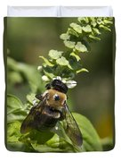 Bumblebees And Basil Duvet Cover