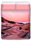 Bumpass Hell Sunset Duvet Cover