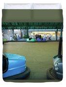 Bumper Cars At Monte Igueldo Amusement Duvet Cover