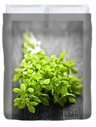 Bunch Of Fresh Oregano Duvet Cover