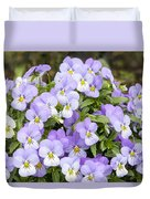 Bunch Of Pansy Flowers Duvet Cover
