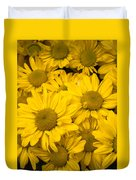 Bunch Of Yellow Daisies Duvet Cover