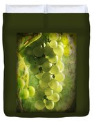 Bunch Of Yellow Grapes Duvet Cover