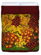 Bunches Of Yellow Copper Orange Red Maroon - Hot Autumn Abundance Duvet Cover