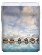 Bungalows Over Ocean II Duvet Cover