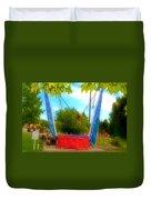 Bungee Trampoline Duvet Cover