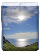 Bunglass Donegal Ireland - Seascape Duvet Cover