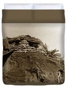 Bunker Above The Dak Poko River Near Dak To Kontum Province Vietnam 1968 Duvet Cover