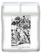 Bunker Hill: Cartoon, 1775 Duvet Cover