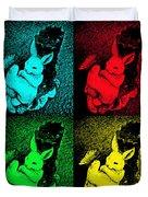 Bunny Pop Art Duvet Cover