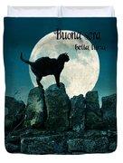 Buona Sera Bella Luna Duvet Cover