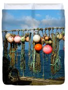 Buoys And Pots In Sennen Cove Duvet Cover