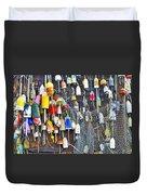 Buoys On Wall - Cape Neddick - Maine Duvet Cover