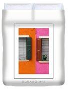 Burano 11 Poster Duvet Cover