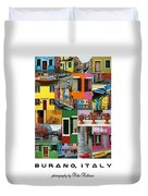 Burano Italy Poster Duvet Cover
