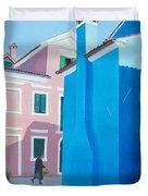 Burano Venice Street Scene Duvet Cover