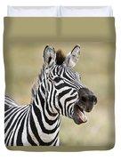 Burchells Zebra Equus Quagga Burchellii Duvet Cover