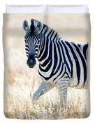 Burchells Zebra Equus Quagga Duvet Cover