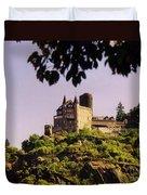 Burg Katze Castle On The Rhine Duvet Cover