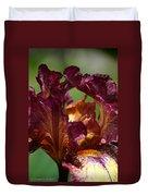 Burgundy Blossom Duvet Cover
