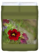 Burgundy Calibrochoa Blank Greeting Card Duvet Cover