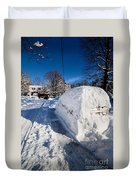 Buried In Snow Duvet Cover