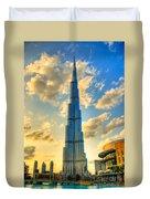 Burj Khalifa Duvet Cover by Syed Aqueel